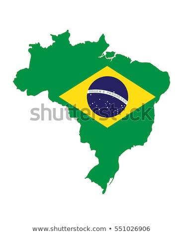 Vektör bayrak haritaları Brezilya yalıtılmış Stok fotoğraf © sidmay