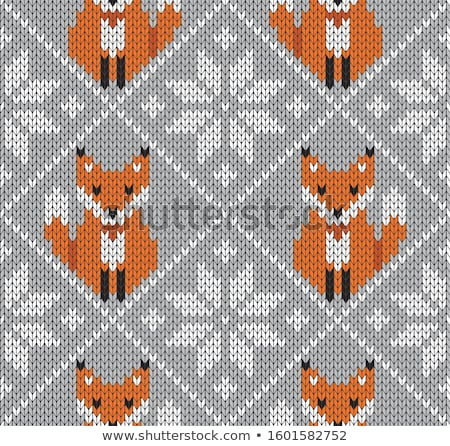 Knit Vector Seamless Pattern. Stock photo © ESSL