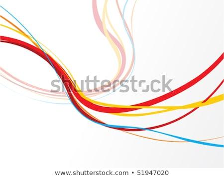 Stock photo: abstract colourful rainbow wave lines with blank space of sample