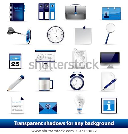 Keresés 3D fényes vektor ikon terv Stock fotó © rizwanali3d