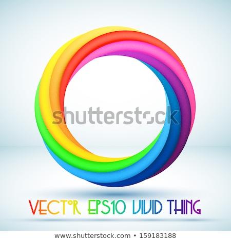 Rainbow anello bianco isolato 3D illustrazione 3d Foto d'archivio © ISerg