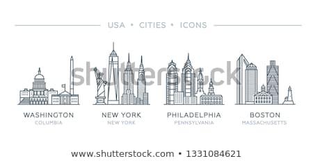 Boston · silhouet · USA · business · gebouw - stockfoto © blamb