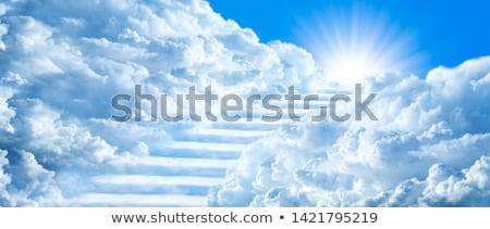 escada · céu · imagem · branco · sol · luz - foto stock © lightsource