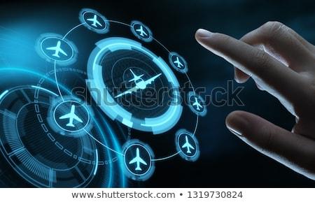 Aarde luchtvaart business globale vliegtuigen vliegtuig Stockfoto © alexaldo