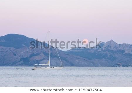 ヨット · 月 · 夏 · 海 · 船 · 風 - ストックフォト © kotenko