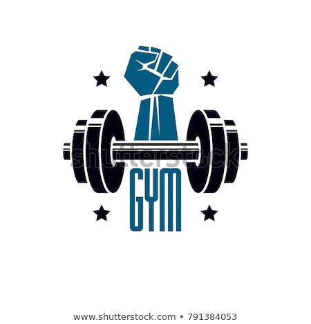 フィットネス ロゴ スポーツ 健康 背景 ストックフォト © amanmana