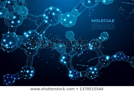Foto stock: 3d Molecules Of Water Concept Background