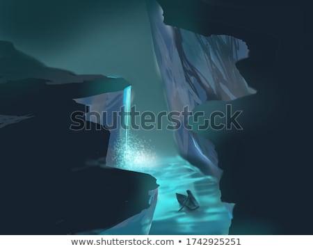 滝 洞窟 1泊 実例 空 風景 ストックフォト © bluering