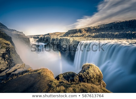 Landschap waterval IJsland zomer rivier canyon Stockfoto © Kotenko