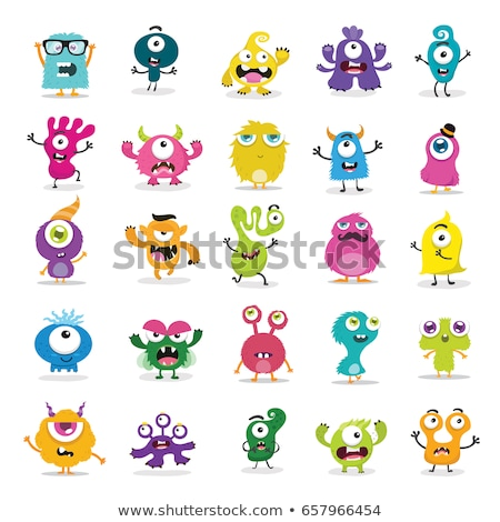 Cute monster ingesteld collectie 12 monsters Stockfoto © zsooofija