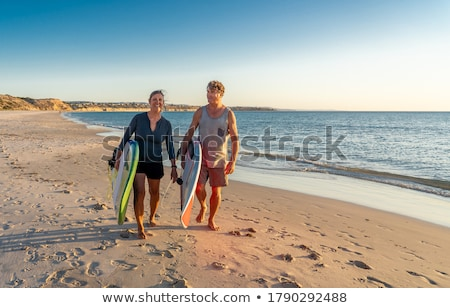 Exercising On The Beach Stock photo © MilanMarkovic78