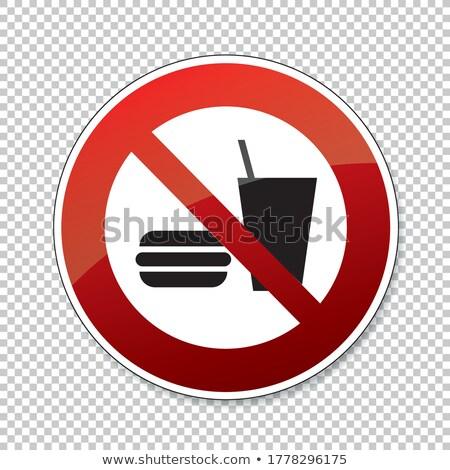 Nie fast food podpisania symbol ikona przezroczysty Zdjęcia stock © romvo