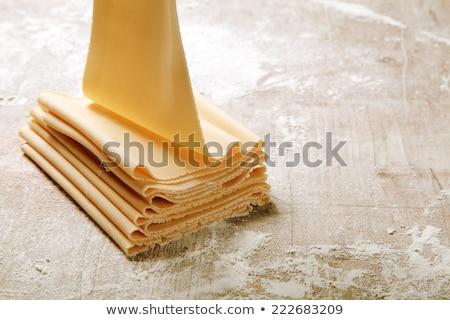 Lasanha acima ver cozinhar espaguete cozinha Foto stock © dash