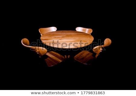 quarto · marrom · cadeiras · prateleiras · para · livros · ilustração · casa - foto stock © studiostoks