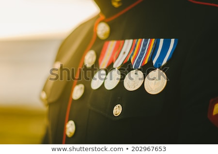 soldier in military uniform outdoors Stock photo © dolgachov