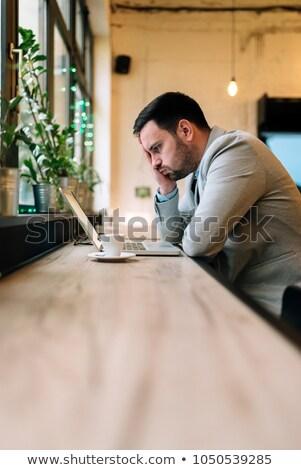 Bosszús fiatal üzletember portré fehér üzlet Stock fotó © feedough
