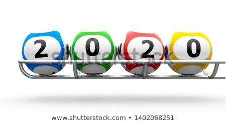 Capodanno lotteria isolato bianco illustrazione 3d Foto d'archivio © MikhailMishchenko