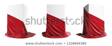 Showcase pedestal covered with cloth Stock photo © Arsgera