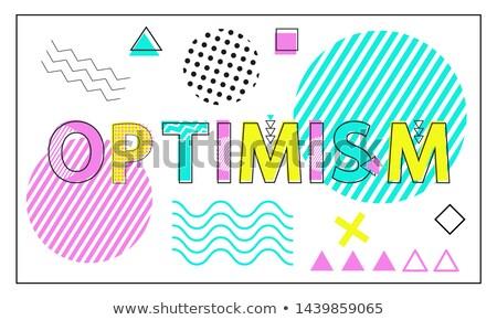 楽観 バナー 幾何学的な 行 ポジティブ 明るい ストックフォト © robuart