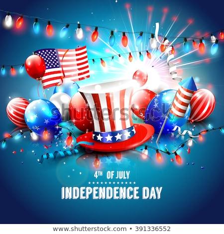 ünneplés · kártya · boldog · nap · USA · illusztráció - stock fotó © olehsvetiukha