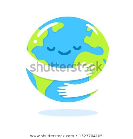 cartoon · knuffel · illustratie · planeet · klaar · geven - stockfoto © cthoman