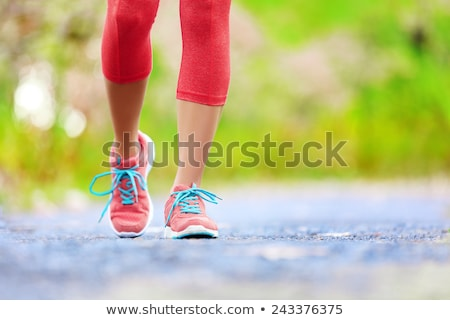 walking on green grass exercise outdoors stock photo © blasbike