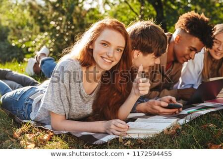 group of energetic multhiethnic students stock photo © deandrobot