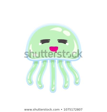 Fame cartoon medusa illustrazione guardando sorridere Foto d'archivio © cthoman