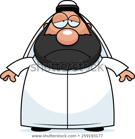 sad cartoon sheikh stock photo © cthoman