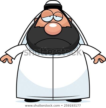sad cartoon sheikh stock photo © cthoman
