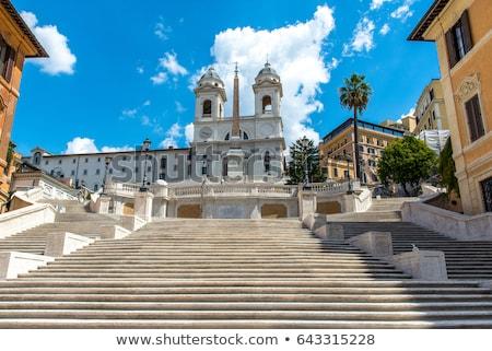 スペイン語 階段 教会 ローマ 日の出 雲 ストックフォト © Givaga