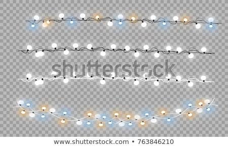 Сток-фото: Рождества · иллюстрация · красочный · фары · гирлянда