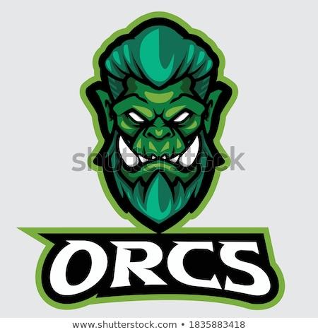 Stock photo: Cartoon Orc Sign