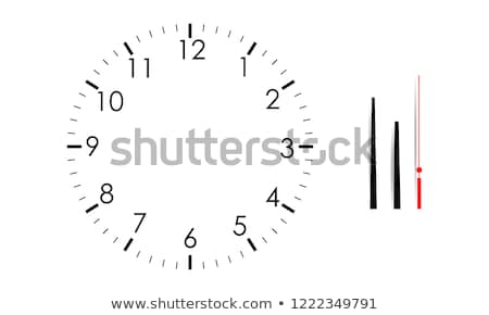 Clock face blank isolated on white background. Vector clock hands. Set for watch design Stock photo © Iaroslava