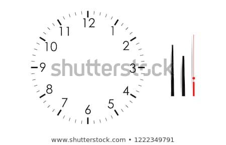Geïsoleerd witte vector klok handen Stockfoto © Iaroslava