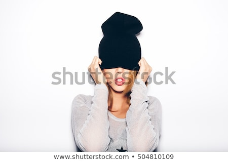 Portrait of a naughty young brunette Stock photo © acidgrey