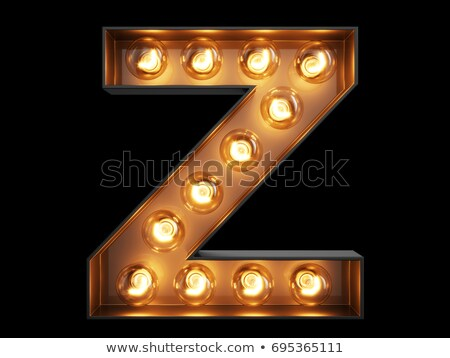 Golden font letter Z 3D Stock photo © djmilic