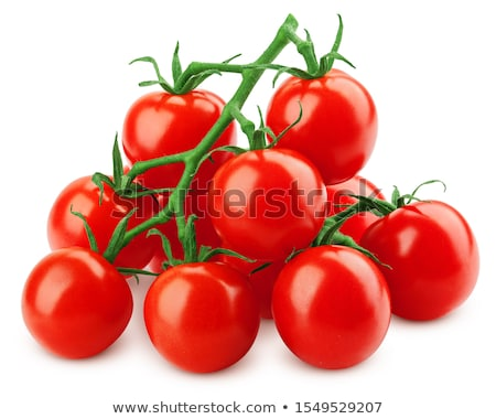 Set of cherry tomatoes, paths Stock photo © maxsol7