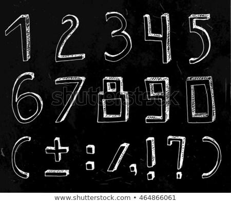 volumetric vintage alphabet font vector illustration set 9 stock photo © tashatuvango
