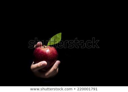 Ayartma elma güzel bir kadın bağbozumu kırmızı göz Stok fotoğraf © fanfo