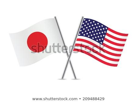 2 フラグ 日本 米国 孤立した ストックフォト © MikhailMishchenko
