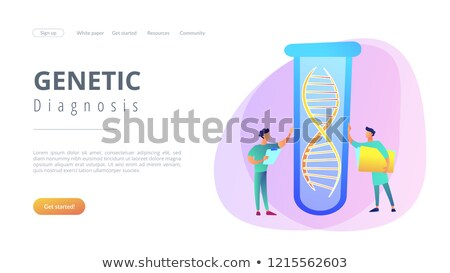 Genetic testing app interface template. Stock photo © RAStudio