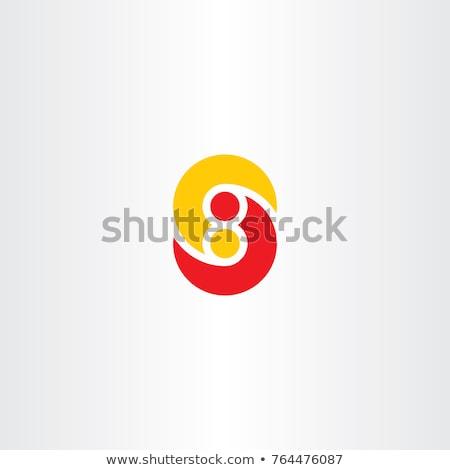 Carta número oito logotipo ícone assinar Foto stock © blaskorizov