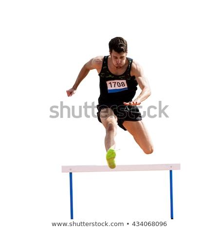 Hurdle race on white background Stock photo © bluering