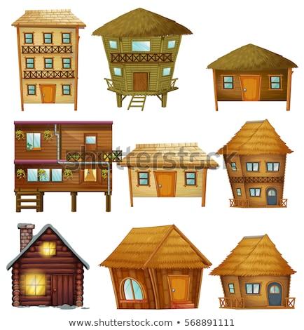 異なる デザイン 木製 ホーム 背景 芸術 ストックフォト © colematt
