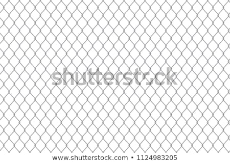 Stock photo: Barbed wire, a fence in prison. Prison concept.