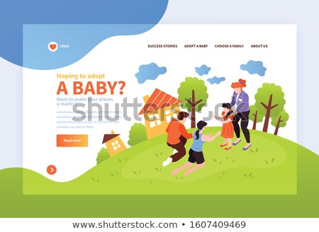 How to Be Happy Family Web Page with Links Vector Stock photo © robuart