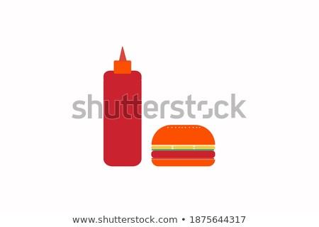 colorido · iconos · de · comida · rápida · aislado · alimentos - foto stock © netkov1