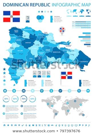 mapa · República · Dominicana · ciudad · resumen · arte · bandera - foto stock © kyryloff
