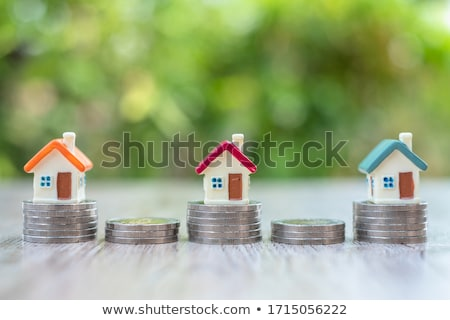 Property Value Text With House Model And Stacked Coins Stock photo © AndreyPopov